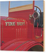 1919 Volunteer Fire Truck Wood Print