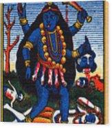 1920 Hindu Goddess Kali Wood Print