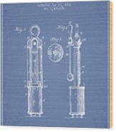 1920 Tuning Fork Patent - Light Blue Wood Print