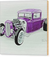 1920s Hotrod Pickup Wood Print