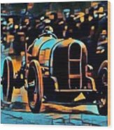 1920's Racing Car Wood Print