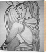 1920s Women Series 11 Wood Print