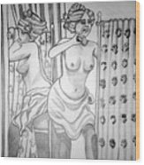 1920s Women Series 6 Wood Print