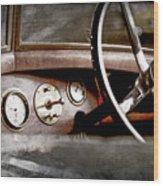 1921 Bentley Steering Wheel -0454ac Wood Print