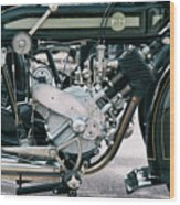 1921 P And M Motorcycle Wood Print