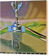 1921 Rolls-royce Silver Ghost Phaeton Hood Ornament Wood Print