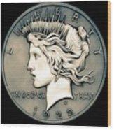 1922 Ghost Peace Dollar Wood Print