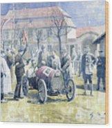 1922 Zbraslav Jiloviste Bugatti T13 Brescia Joan Halmovici Winner  Wood Print