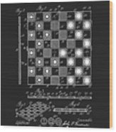 1923 Checkers And Chess Board Wood Print