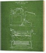 1923 Typewriter Screen Patent - Green Wood Print