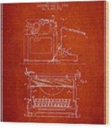 1923 Typewriter Screen Patent - Red Wood Print