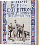 1924 British Empire Exhibition Wembley Wood Print