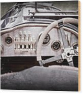 1925 Aston Martin 16 Valve Twin Cam Grand Prix Steering Wheel -0790ac Wood Print