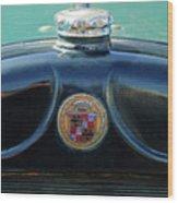 1925 Cadillac Hood Ornament And Emblem Wood Print