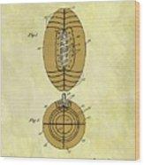 1925 Football Patent Wood Print