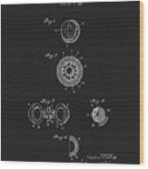 1925 Golf Ball Patent Wood Print