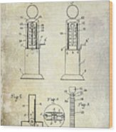 1926 Toy Filling Station Patent Wood Print