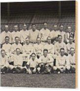 1926 Yankees Team Photo Wood Print