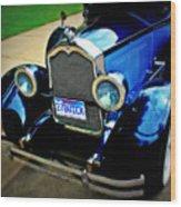 1927 Blue Buick Wood Print