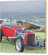 1927 Ford T Bucket Roadster 'on The Greens' Wood Print