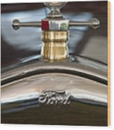 1927 Ford T Roadster Hood Ornament Wood Print