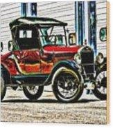 1927 Model T Ford Roadster Wood Print