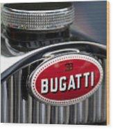 1928 Bugatti Hood Emblem Wood Print