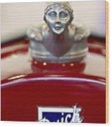 1928 Buick Custom Speedster Hood Ornament 2 Wood Print