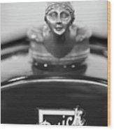 1928 Buick Custom Speedster Hood Ornament 4 Wood Print
