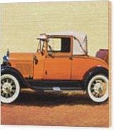 1928 Classic Ford Model A Roadster Wood Print