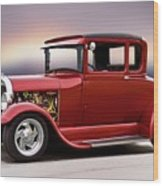1928 Ford 'hot Rod A' Coupe Wood Print