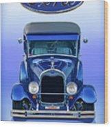 1928 Ford Tudor Sedan 'head On' Wood Print