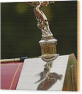1928 Rolls-royce Phantom 1 Hood Ornament Wood Print