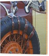 1928 Studebaker President Roadster Spare Tire Wood Print