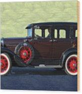 Historical Ford 4 Door Sedan Wood Print