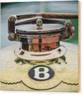 1929 Bentley 4.5-litre Open Tourer Hood Ornament Wood Print