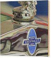 1929 Chevrolet Hood Ornament Wood Print