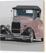 1929 Ford 'champagne Blush' Roadster Wood Print