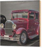 1929 Ford Model A Tudor Sedan Wood Print by Gene Healy