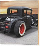 1929 Ford 'rock N Roll' Coupe Wood Print