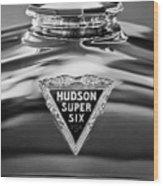 1929 Hudson Cabriolet Hood Ornament 2 Wood Print