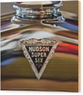 1929 Hudson Cabriolet Hood Ornament Wood Print