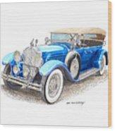 1929 Packard Dual Cowl Phaeton Wood Print