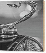 1930 Cadillac Roadster Hood Ornament 2 Wood Print by Jill Reger