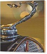 1930 Cadillac Roadster Hood Ornament Wood Print