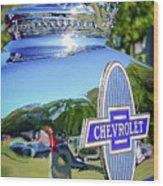 1930 Chevrolet Ad Hood Ornament Wood Print