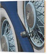 1930 Db Dodge Spare Tire Wood Print