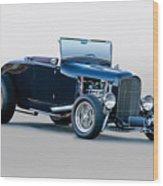 1930 Ford 'blu Mood' Roadster Wood Print
