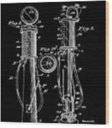 1930 Gas Pump Patent In Black Wood Print