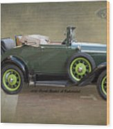 1930 Model A Ford Cabriolet Wood Print